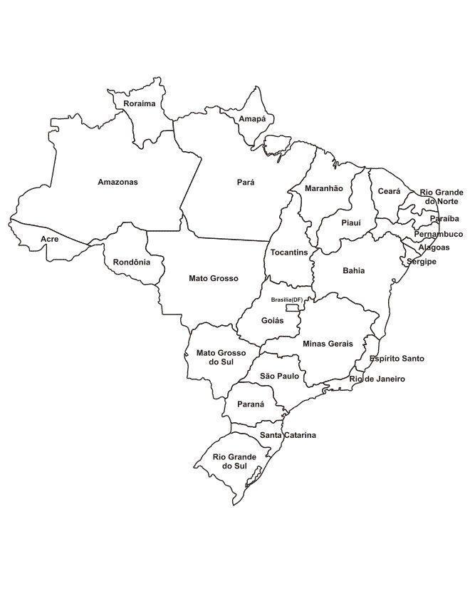 Mapa do Brasil com estados