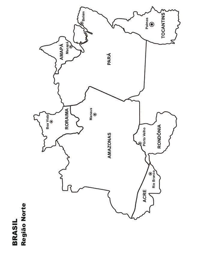 Mapa Do Brasil Regiao Norte Para Imprimir E Colorir